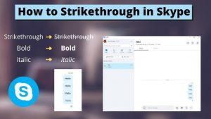How To Strikethrough In Skype
