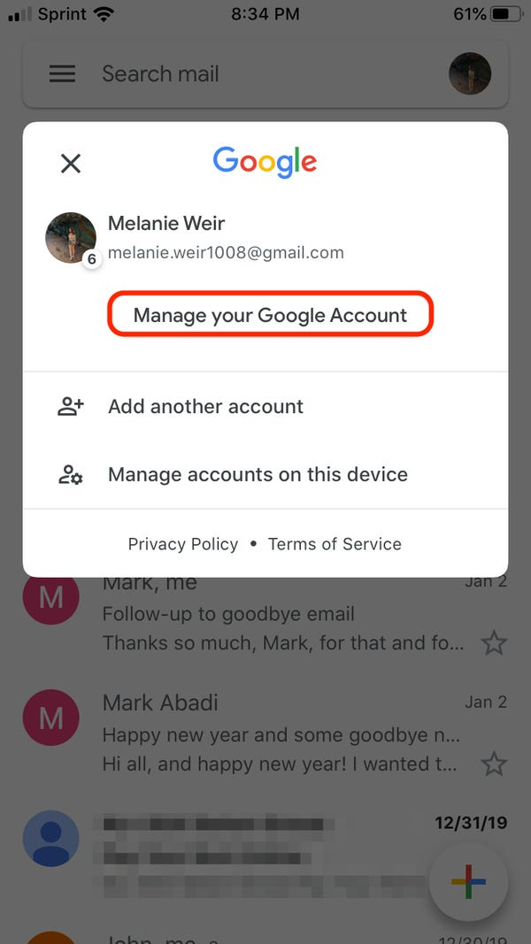How To Change Your Gmail Profile Picture On An Iphone