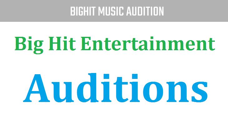 Big Hit Entertainment audition