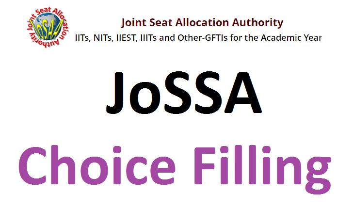 JoSAA Choice Filling