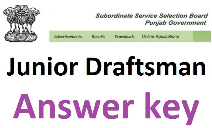 PSSSB Junior Draftsman answer key