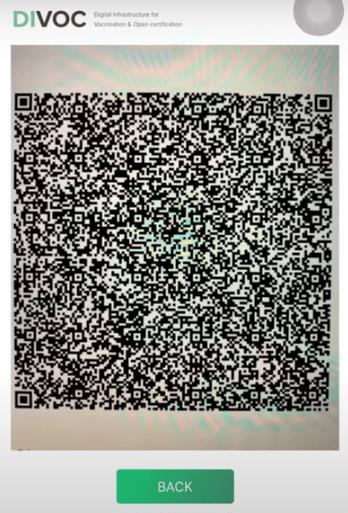 Scan QR code for Cowin verification