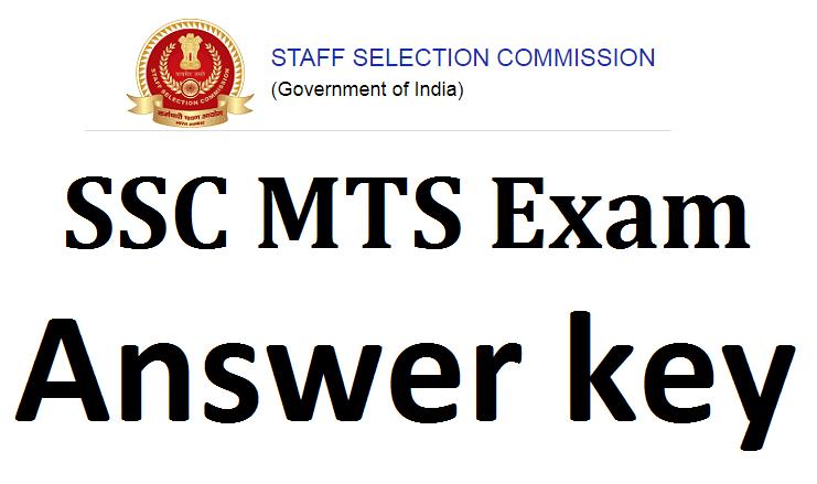 SSC MTS Answer key