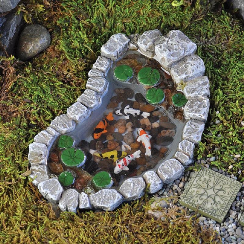 Mẫu 1: Bể cá Koi mini siêu đẹp với thiết kế vô cùng đơn giản