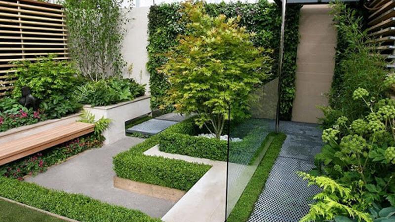 Thiết kế cảnh quan sân vườn theo phong cách hiện đại