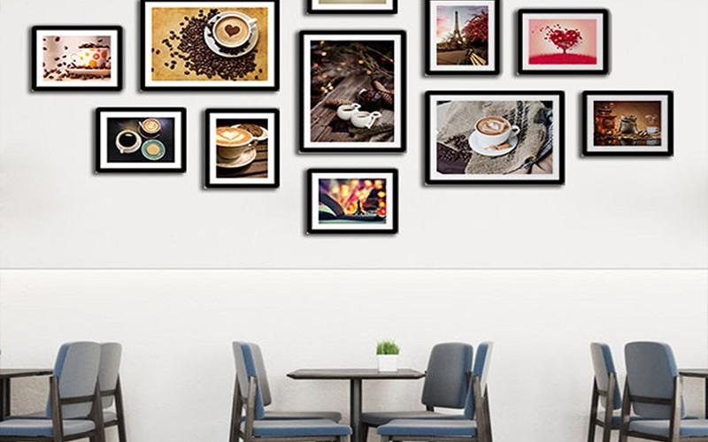 Trang trí tranh, vẽ ảnh rất thích hợp cho quán cafe nhỏ